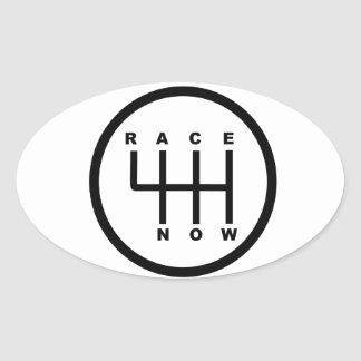 Race Now Gear Box Tribal Oval Sticker
