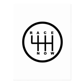 Race Now Gear Box Tribal Postcard