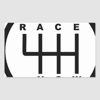 Race Now Gear Box Tribal Rectangular Sticker