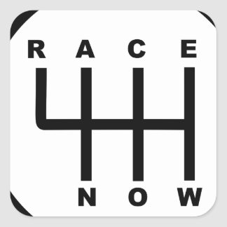 Race Now Gear Box Tribal Square Sticker