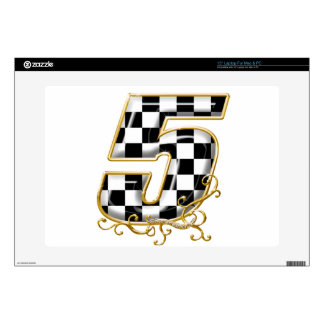 race number 5 gold skin for laptop
