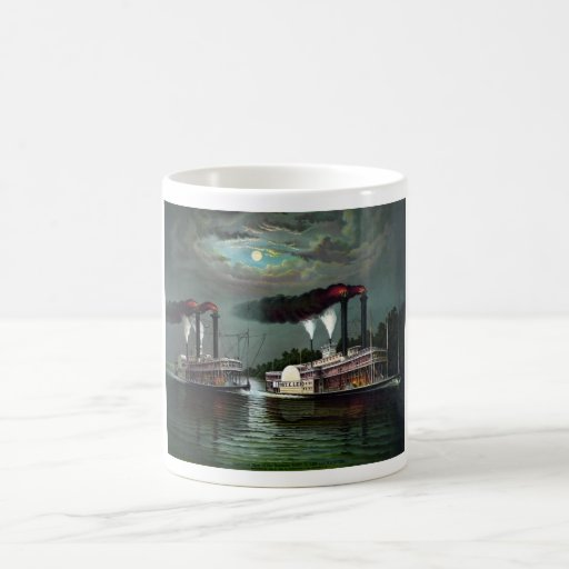 Race Of Steamers Robt. E. Lee and Natchez Classic White Coffee Mug