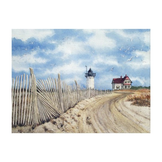 """"""" Race Point Light"""" Stretched Canvas Print"""