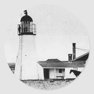 Race Point Lighthouse 2 Classic Round Sticker