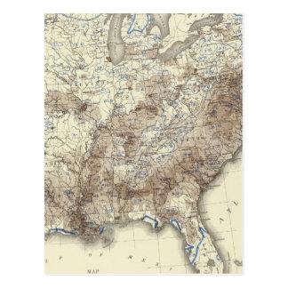 Race Population Density 1870 Postcard