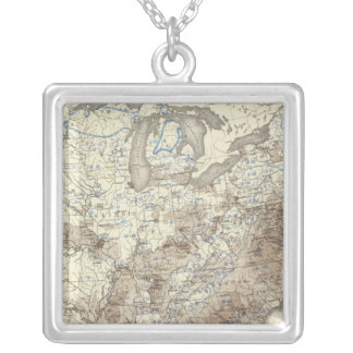 Race Population Density 1870 Silver Plated Necklace