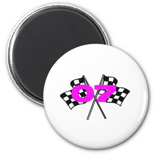 race shirt 2 inch round magnet