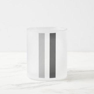 Race Stripes Frosted Glass Coffee Mug