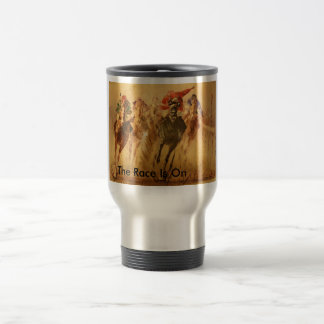 race, The Race Is On 15 Oz Stainless Steel Travel Mug