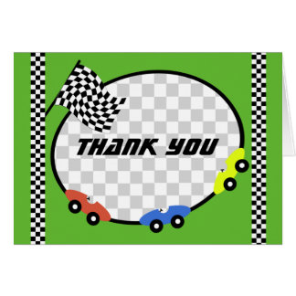 Race Time Thank You Card