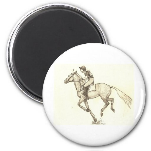 RACE TO FINISH Cross-Country Eventing Refrigerator Magnets