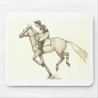 RACE TO FINISH Cross-Country Eventing Mouse Pad