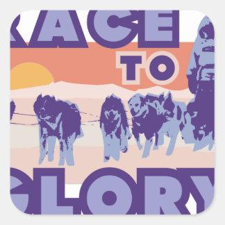 Race To Glory Square Sticker