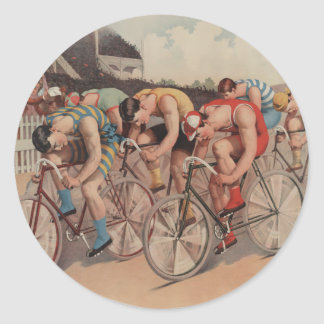 Race to the line - Vintage Cycle Race gift Stickers