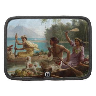 'Race to the Market, Tahiti' - Nicholas Chevalier Folio Planners