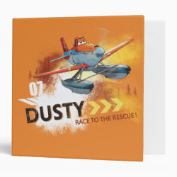 Avery Signature 1' Binder with Dusty Crophopper Race To The Rescue design