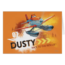 Greeting Card with Dusty Crophopper Race To The Rescue design