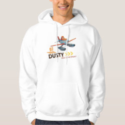 Men's Basic Hooded Sweatshirt with Dusty Crophopper Race To The Rescue design