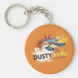 Basic Button Keychain with Dusty Crophopper Race To The Rescue design