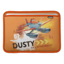 Macbook Air Sleeve with Dusty Crophopper Race To The Rescue design
