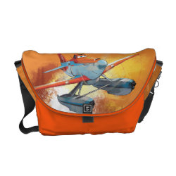 Rickshaw Medium Zero Messenger Bag with Dusty Crophopper Race To The Rescue design