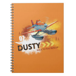 Photo Notebook (6.5' x 8.75', 80 Pages B&W) with Dusty Crophopper Race To The Rescue design