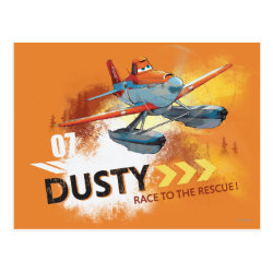 Postcard with Dusty Crophopper Race To The Rescue design