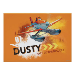 Matte Poster with Dusty Crophopper Race To The Rescue design