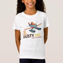 Girls' Fine Jersey T-Shirt with Dusty Crophopper Race To The Rescue design
