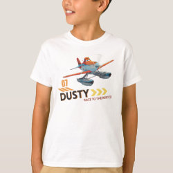 Kids' Hanes TAGLESS® T-Shirt with Dusty Crophopper Race To The Rescue design