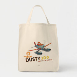 Grocery Tote with Dusty Crophopper Race To The Rescue design