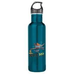 Water Bottle (24 oz) with Dusty Crophopper Race To The Rescue design