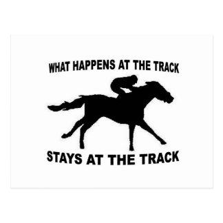 RACE TRACK POSTCARD