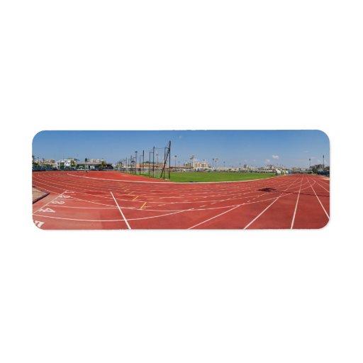race track return address label