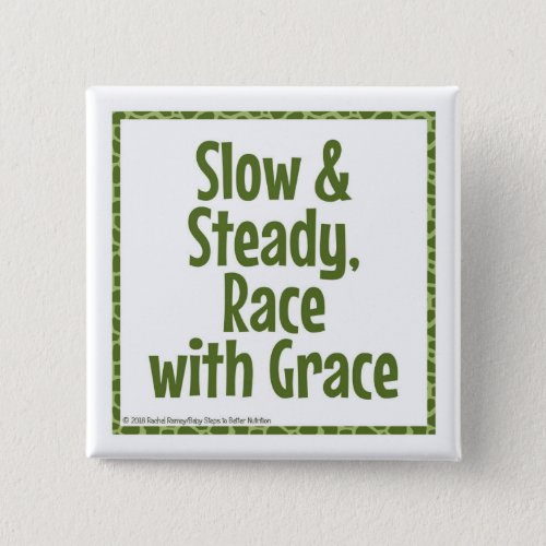 Race with Grace button, green Button