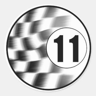 Racecar #11 classic round sticker
