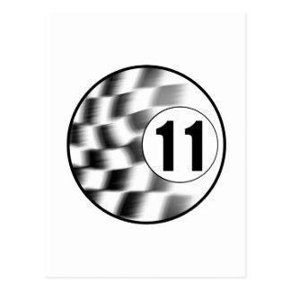 Racecar #11 postcard