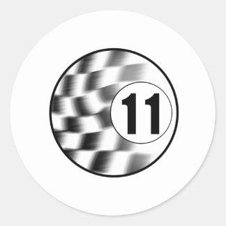 Racecar #11 round stickers