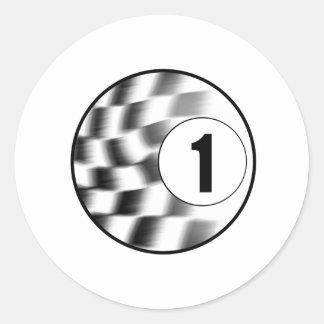 Racecar #1 sticker
