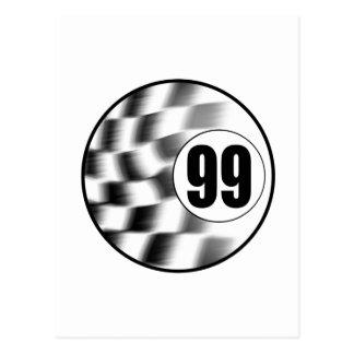 Racecar #99 postcard