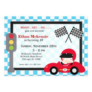 Racecar birthday announcement