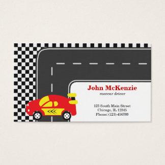 Racecar driver business card