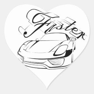 Racecar in tribals heart stickers