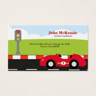 Racecar Mechanic Business Card