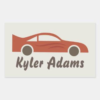 Racecar Name Label