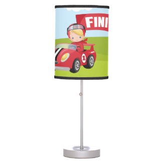 Racecar Racing Table Lamp