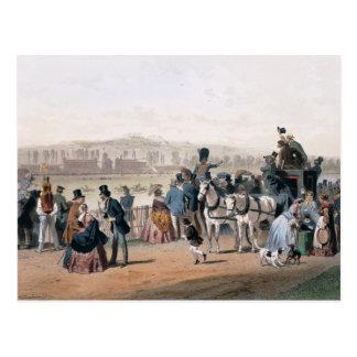 Racecourse at the Bois de Boulogne Postcard
