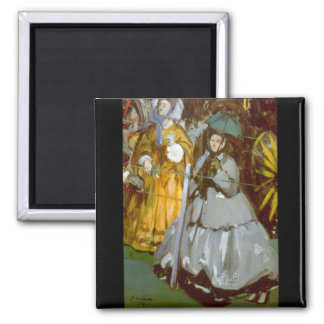 Racecourse by Edouard Manet 2 Inch Square Magnet