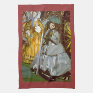 Racecourse by Edouard Manet Kitchen Towel