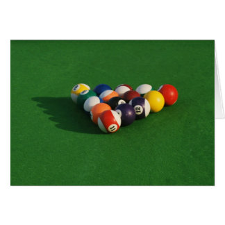 Raced Pool Balls Blank Card Greeting Cards